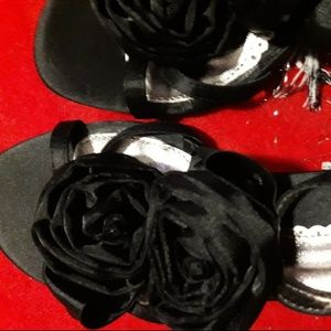 Attention Shoes - NEW in BOX Satiny Dress Shoes w/ Rosette Flowers